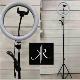Ringlight 26 cm+ tripé de 1.80 metros