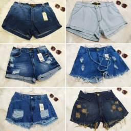 Shortinho jeans short feminino