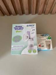 Bomba tira leite G-Tech + caixa com saquinhos de armazenamento de leite