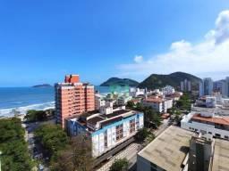 Apartamento na praia, 3 dormitórios, 1 suíte, viata para o mar, Tombo, Guarujá.