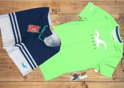 Kit camisas+short bermuda grifes u.s 100% origens made U S A