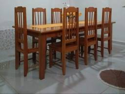 Mesa de madeira grande 2.50 × 1.10