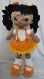 Boneca Amigurumi Amarela, sob encomenda
