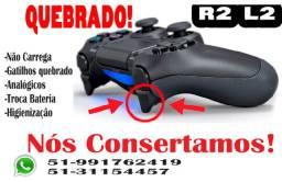 Conserto Controle playstation ps4 Dualshock Quebrado ou Com Defeito