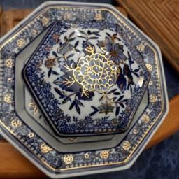 Porta joia / baleiro / prato porcelana colonial
