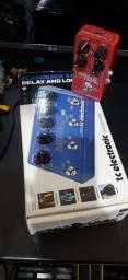 Pedal Flashback X4 + Reverb Hall Fame Tc eletronic