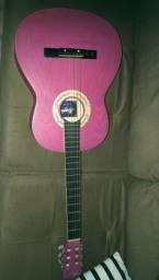 Violão rosa marca Memphis