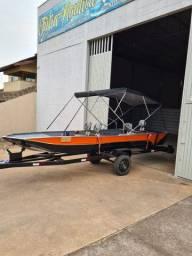 Reboque para canoa pronta para emplacar