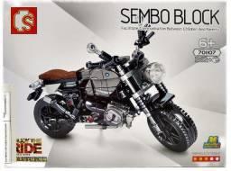 Bloco De Montar Moto Técnica 262 Peças Motorcycle Latte Dus