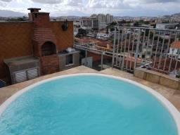 Panorâmica Cobertura Duplex 245m²- Salão 3 suítes Bela Piscina Churrasqueira-15 min Barra