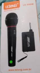 Microfone sem fio Lelong LE-996W
