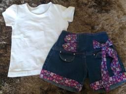 Blusa + shorts jeans = 40,00