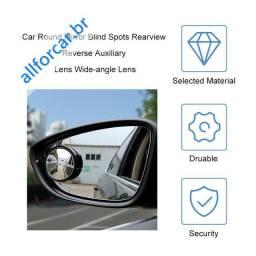 Espelho retrovisor veicular auxiliar de estacionamento e ponto cego