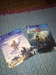 Horizon zero dawn e God of war PS4