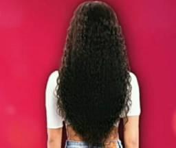 Full lace de cabelo humano cacheado