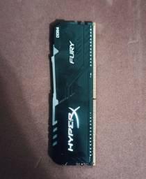 RAM DDR4 HYPERX FURY RGB 8GB