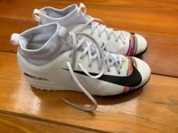 Chuteira Nike Mercurial Superfly 34 branca