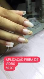 Título do anúncio: Aplicação  de fibra de e cílios  por 100 reais . Promoção  válida até 31/10/2021
