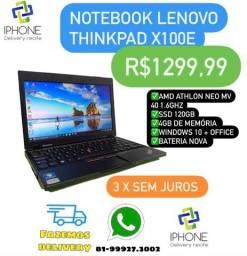 Notebook Lenovo ThinkPad X100E (Ssd 120 /4gb) Entrega Grátis 3 x sem Juros