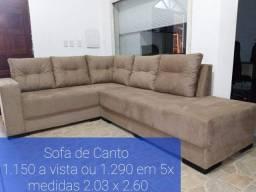 SOFÁ CANTO SUED AVELUDADO LUXO 2.03x2.60