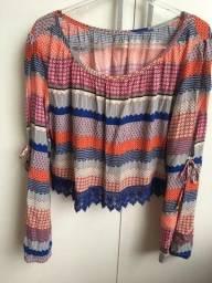 blusa tecido geométrica da hering