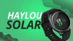 """Título do anúncio: Smartwatch Haylou Solar 1.28"""" caixa 45.3mm de metal pulseira preta de silicone LS05"""