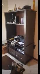 Vendo mesa e estante de escritório