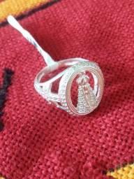 Anel prata 925 Ns.Sra. APA Cravado Zirconias