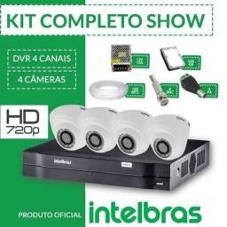 Kit de segurança câmeras de segurança Intelbras  instaladas