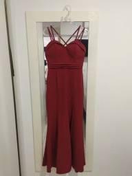 Título do anúncio: Vestido de festa marsala com bojo