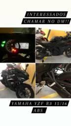 Yamaha R3, único dono, pouca rodada, moto de garagem, semi-nova, YAMAHA YZF  R3 ABS, PRETA