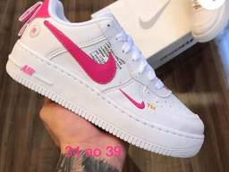 Nike Air Force,34 ao 39Original Branco com Rosa
