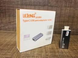 Adaptador Usb 3.1 Type-C Para Hdmi Suporte 4K X 2K 1080P Le-5551