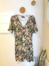 Vestido estampado floral da Ellus - TAM 38 - usado