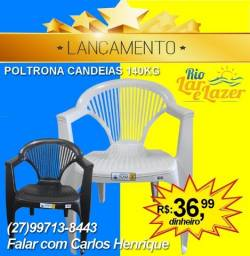 Cadeira Plástico Estilo Poltrona