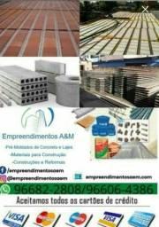 Título do anúncio: Os melhores preços e ofertas para lajes isopor tijolos areia pedra ferros andaimes   obra