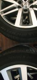 Rodas aro 20 Hilux SRX sem detalhe, com 2 jogos de pneus!