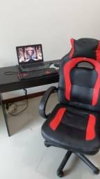 Cadeira Gamer Racing C/Apoio Cervical - Descansa Braços  - Vermelho/Preto - ELG