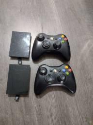 Título do anúncio: Controle e HD 250 giga de Xbox tudo original impecável