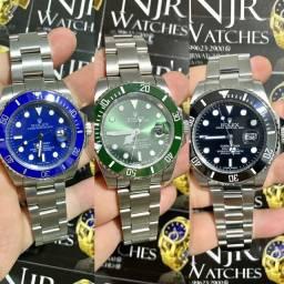 Relogio Rolex prata automatico novo garantia