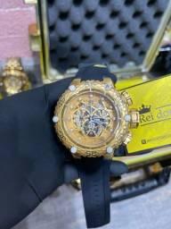 Título do anúncio: Relógio invicta subaqua noma 6 preto banhado a ouro