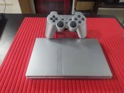 Playstation 2 Slim usado Prata