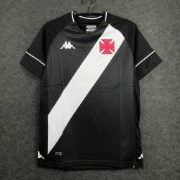 Camisa Vasco I 20/21 s/n° Torcedor Kappa Masculina - Preto+Branco
