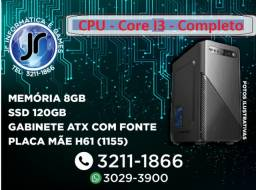 Novo - CPU Core I3 - 8GB ssd 120GB -Garantia de 1 Ano