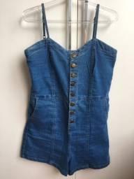 macaquinho jeans da renner - blue steel