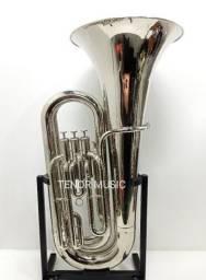 Tuba Weril J310 em Dó Niquelado Com Estojo Original