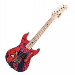 Guitarra Infantil Phx Phoenix Strato Homem Aranha - Spider Man Garantia NF