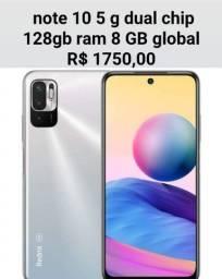 Título do anúncio: Xaomi redmi note 10 5 g dual chip 128gb ram 8 GB global