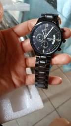 Imperdível Relógio Nibosi luxo em aço prova d'água em aço prova de risco