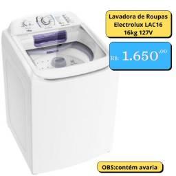 Lavadora de Roupas Electrolux LAC16 16kg 127V
